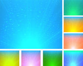 A set of colorful abstract backgrounds — ストックベクタ