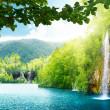 Foto Stock: Waterfall in deep forest