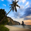 Stock Photo: Sunset in krabi province Thailand