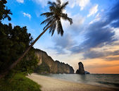 Sunset in krabi province Thailand — Stock Photo