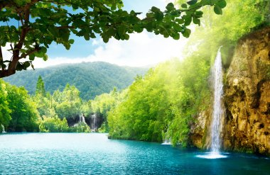 Waterfall in deep forest