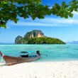 Stock Photo: Boat and islands in andamseThailand