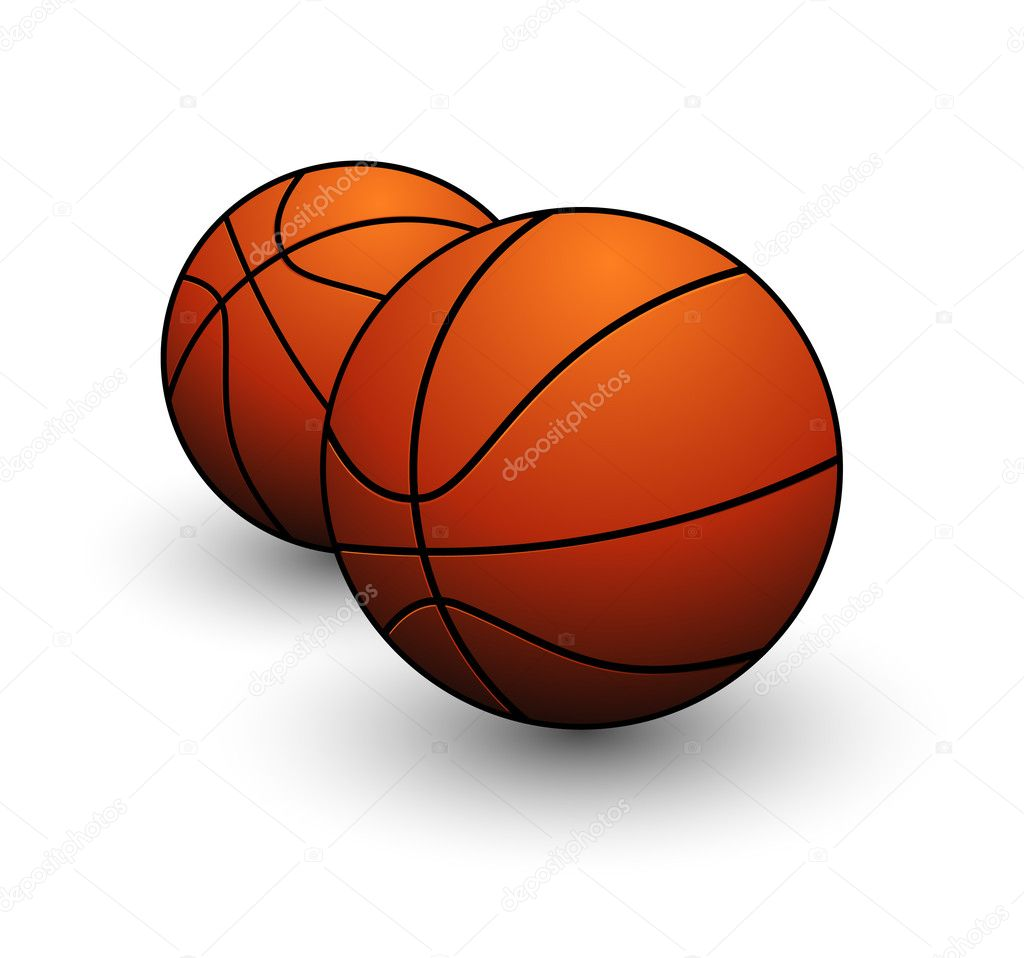 Basketball ball sign orange color on the white — Stock Vector #6875219
