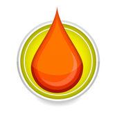 Gota de sangre de símbolo de elegancia medic — Vector de stock