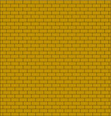 Brick wall testure yellow color isolated — Vettoriale Stock