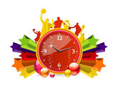 Glass and clear red chronometer — Stock Vector