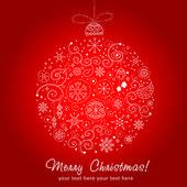 Stylized design Christmas decoration — Stock Vector