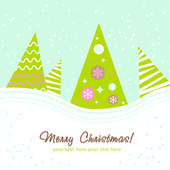 Colorful design Christmas tree — Stock Vector