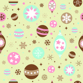 Beautiful design Christmas seamless pattern — Stock Vector