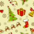 Royalty-Free Stock Vector Image: Seamless Christmas hand drawn pattern with sketch fir tree