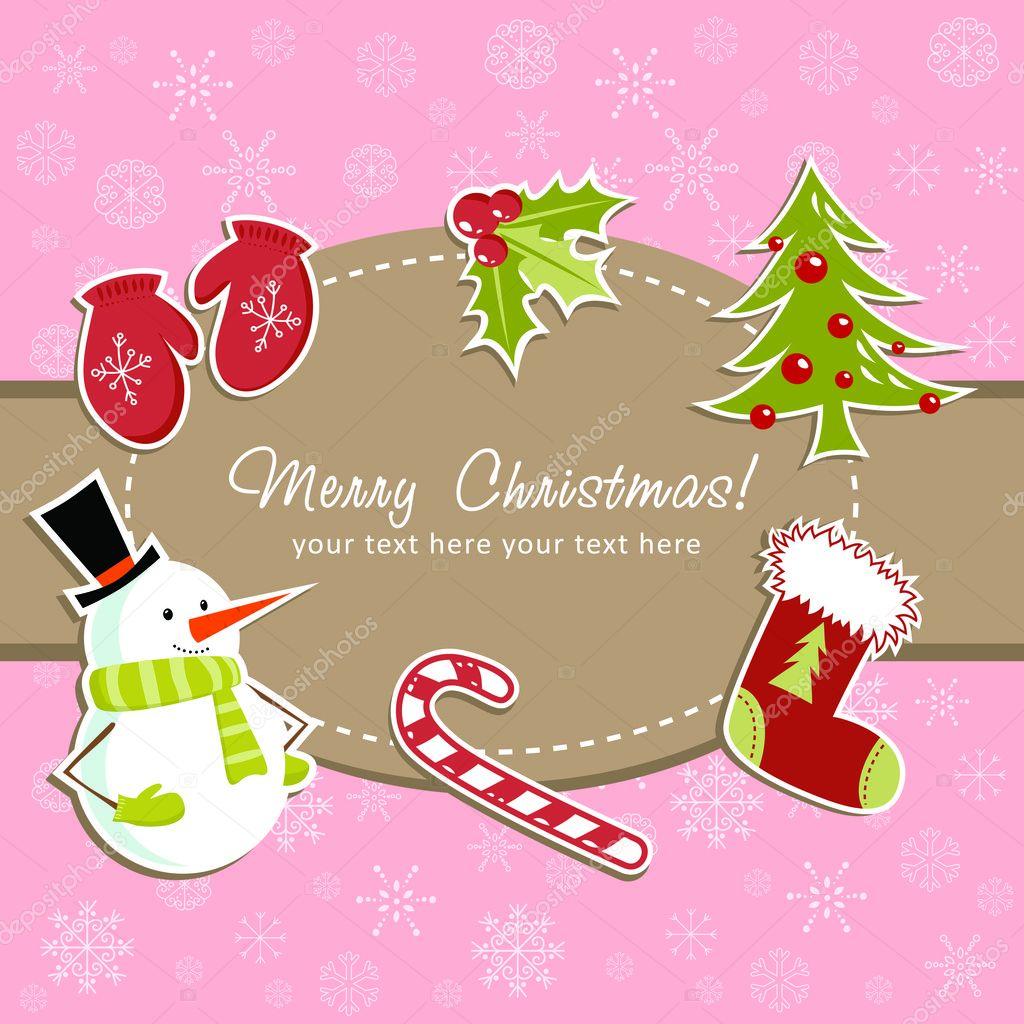 Рождественские открытки вектор 56