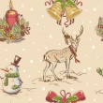 Creative seamless Christmas hand drawn texture — Stock Vector