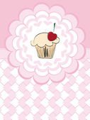 Card greeting with cake — Stock Vector