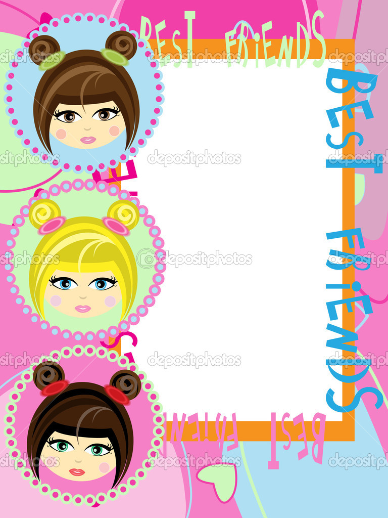Card greeting for best friends   Stock Vector #7283270