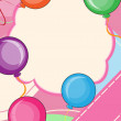 Invitation card with happy balloons — Imagen vectorial