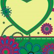 Card greeting with heart — Stockvector #7459263