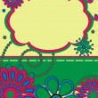 Greeting card with abstract flower pattern — ストックベクター #7459280