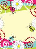 Invitation card with ladybirds — Stock Vector