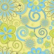 Flower pattern seamless background — Stock Vector