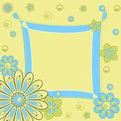 Floral greeting card — Stockvektor