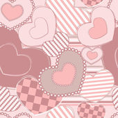 Valentines motives seamless pattern with hearts — Stok Vektör