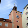 Bridge tower in Regensburg — Stock Photo