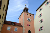 Bridge tower in Regensburg — Stock Photo