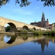Stock Photo: Bridge of Regensburg