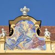 Fresco in Abbey Melk — Stock Photo