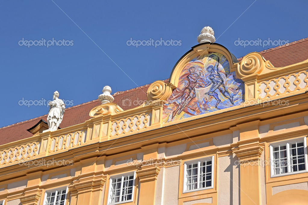 One side of the abbey of Melk, Austria — Stock Photo #7303208