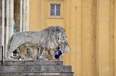 Bavarian lion — Stock Photo