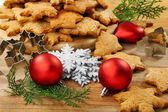 Christmas ginger biscuits. — Stock Photo