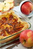 Puff apple pie. — Stock Photo
