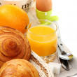 Stock Photo: Delicious breakfast with croissants