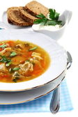 Soup of sauerkraut and meat. — Stock Photo