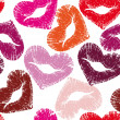 Print of lips, kiss - Image vectorielle
