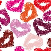 Impresión de labios, un beso — Vector de stock