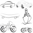 Sketch transport vector illustration - Stock Vector
