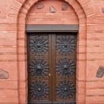 Ornamented wood ancient door — Stock Photo