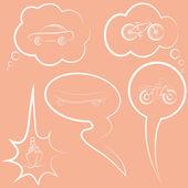 Conjunto de bolhas do discurso e do pensamento — Vetorial Stock