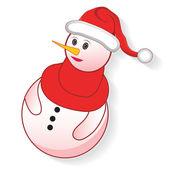アイコン クリスマス雪だるま — ストックベクタ