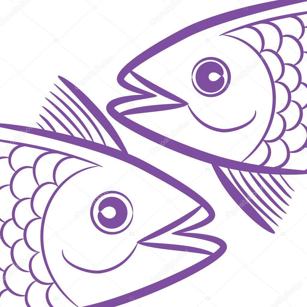 Znak Zodiaku Ryby Zodiaku Znaki Logo Ryby