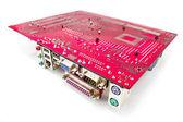 Moederbord hardwareonderdelen en circuits — Stockfoto