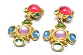 Earring with gems — Stock Photo