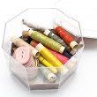 Colorful sewing supplies — Stockfoto