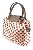 Polka dot bag — Stock Photo