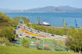 Town Nakhodka. View of the gulf — Stock Photo