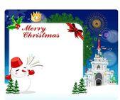 Mooie cristmas briefkaart — Stockfoto