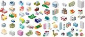Zestaw ikon budynków miasta wektor — Wektor stockowy