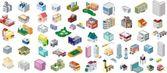矢量城市建筑图标集 — 图库矢量图片